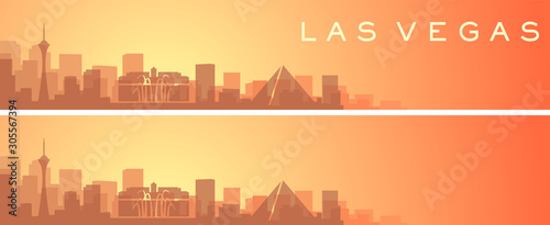 Las Vegas Beautiful Skyline Scenery Banner Canvas Print