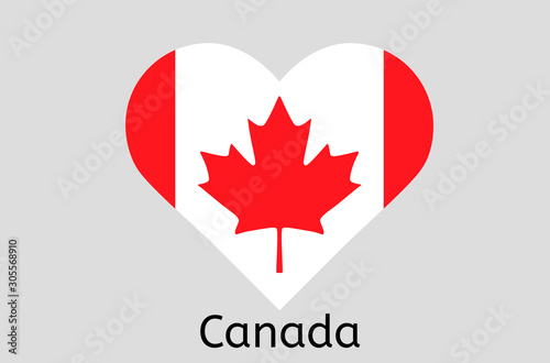 Canadian flag icon, Canada country flag vector illustration