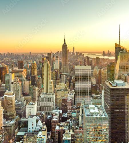 Photo New York City Manhattan midtown buildings skyline in 2019