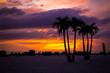 canvas print picture - View of the sunset in St. Pete Beach, FL