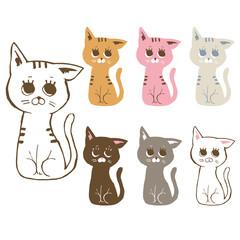 ネコのイラストセット