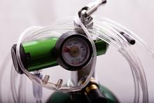 Close-up Of A Oxygen Cylinder ...