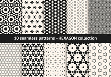 Hexagon Pattern Collection. Ve...