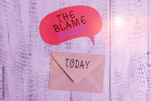 Photo Handwriting text writing The Blame Game