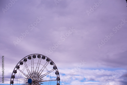 Ferris wheel with ample copy space Wallpaper Mural