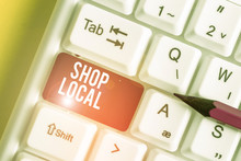 Word Writing Text Shop Local. ...