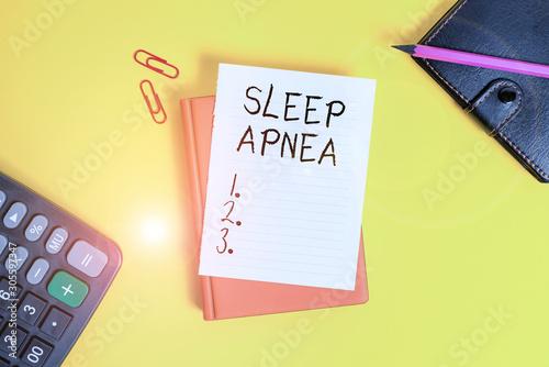 Photo Text sign showing Sleep Apnea