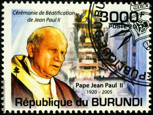 Photo Beatification of Pope John Paul II on postage stamp