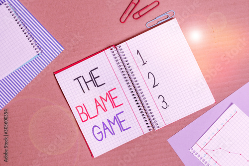 Conceptual hand writing showing The Blame Game Canvas Print