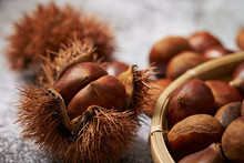 Chestnuts With Shell And Spikes
