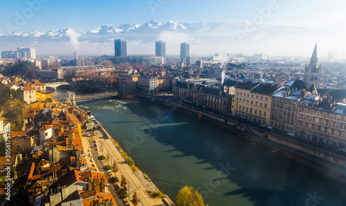 Photo Aerial view of Grenoble