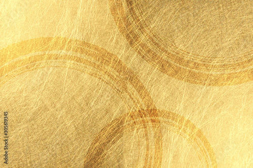 Obraz na plátně アブストラクト、テクスチャ、バックグラウンド、チェック、パターン、金色、金箔,煌めき、輝き、市松模様、和、和柄、和風、寿、ざらざらの, 屏風、年賀状、新年、日本