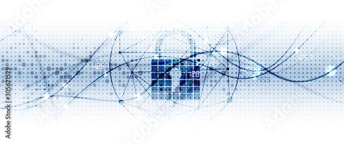 Fotografía internet digital security technology concept for business background