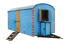 An Old Aged Steel Blue Trailer...