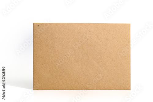 Fotomural Brown envelope on white background