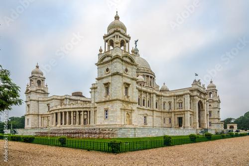 View at the Victoria Memorial in Kolkata - West Bengal,India Canvas Print