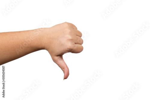 Fotografía  thumb down , female hand