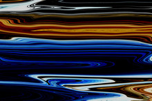 Blue And Orange Liquid Color. ...
