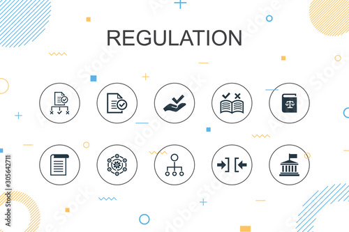 Fototapeta regulation trendy Infographic template