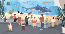 Children In Oceanarium Flat Ve...