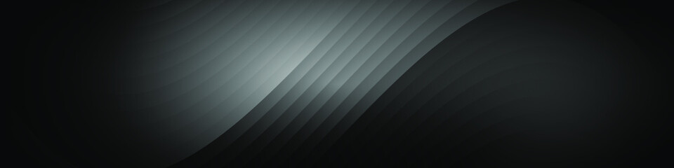 Abstract black background with wave lines