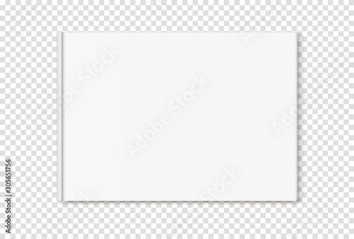 Fotografering  Vector mock up, tamplate of hardcover album on transparent background