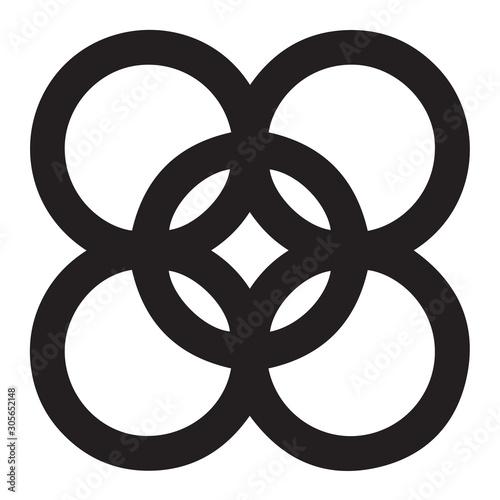 Adinkra kintinkantan symbol of arrogance Canvas Print