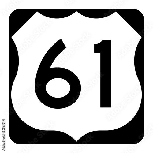 Papel de parede  US route 61 sign