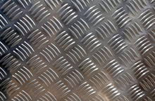 Metal Gray Sheet With Grooved Pattern For Background