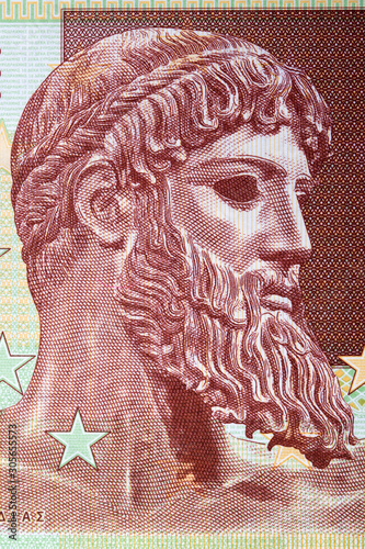 Платно Ajax the Great a portrait from Greek money