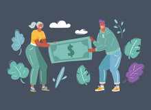 Couple Fighting Over Money.