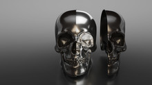 Illustration Of Black Skull Co...