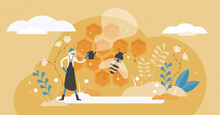 Beekeeping Vector Illustration. Bee Honey Occupation In Tiny Person Concept
