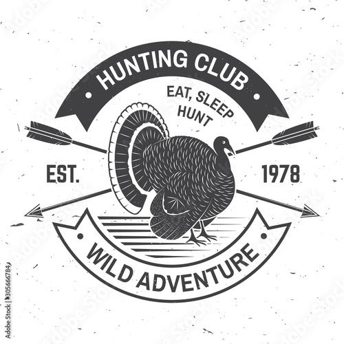 Hunting club badge Wallpaper Mural
