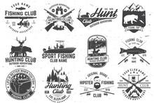 Set Of Hunting Club And Fishin...