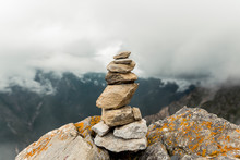 Stack Of Stones On Background ...