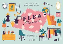 Vector Illustration Flea Marke...