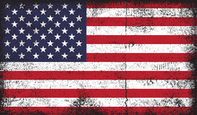 American Flag In Grunge Style Vector