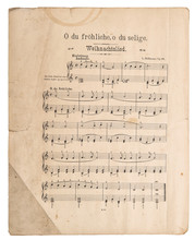 Old Music Sheet Popular Christ...