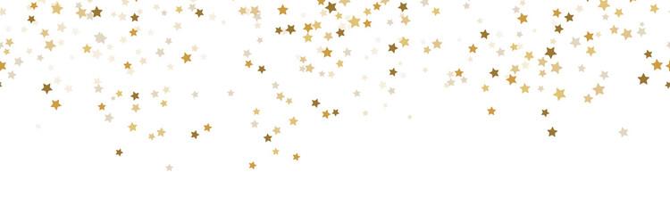 Fototapeta na wymiar seamless confetti stars background for christmas time