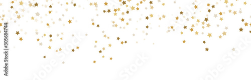Fototapeten Künstlich seamless confetti stars background for christmas time