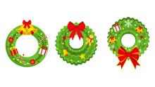 Christmas Wreath On The Door F...