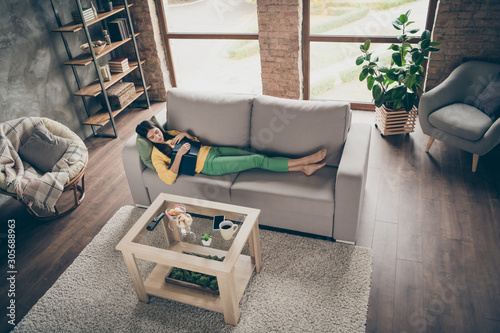 All night reading concept Canvas Print