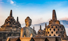 Borobudur Temple At Sunrise, J...