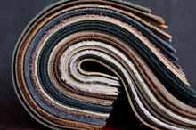 Closeup Of Rolled Samples Of U...