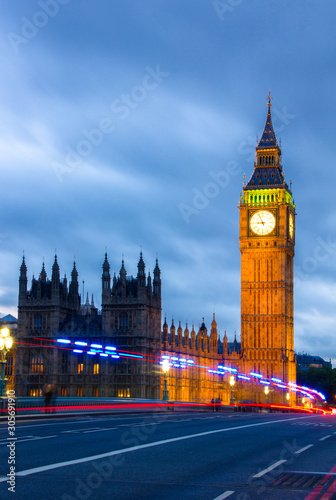 Big Ben Clock Tower and Parliament house at city of westminster, London England Fototapeta