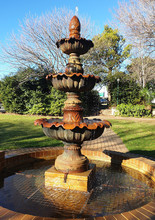 Water Fountain Clear Blue Sky Outdoors Photography