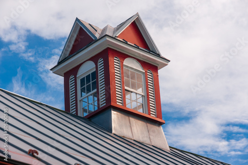 Tablou Canvas Red barn with cupola