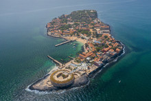 Aerial View Of Goree Island. G...