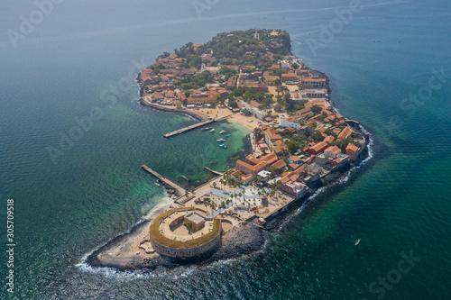 Cuadros en Lienzo  Aerial view of Goree Island